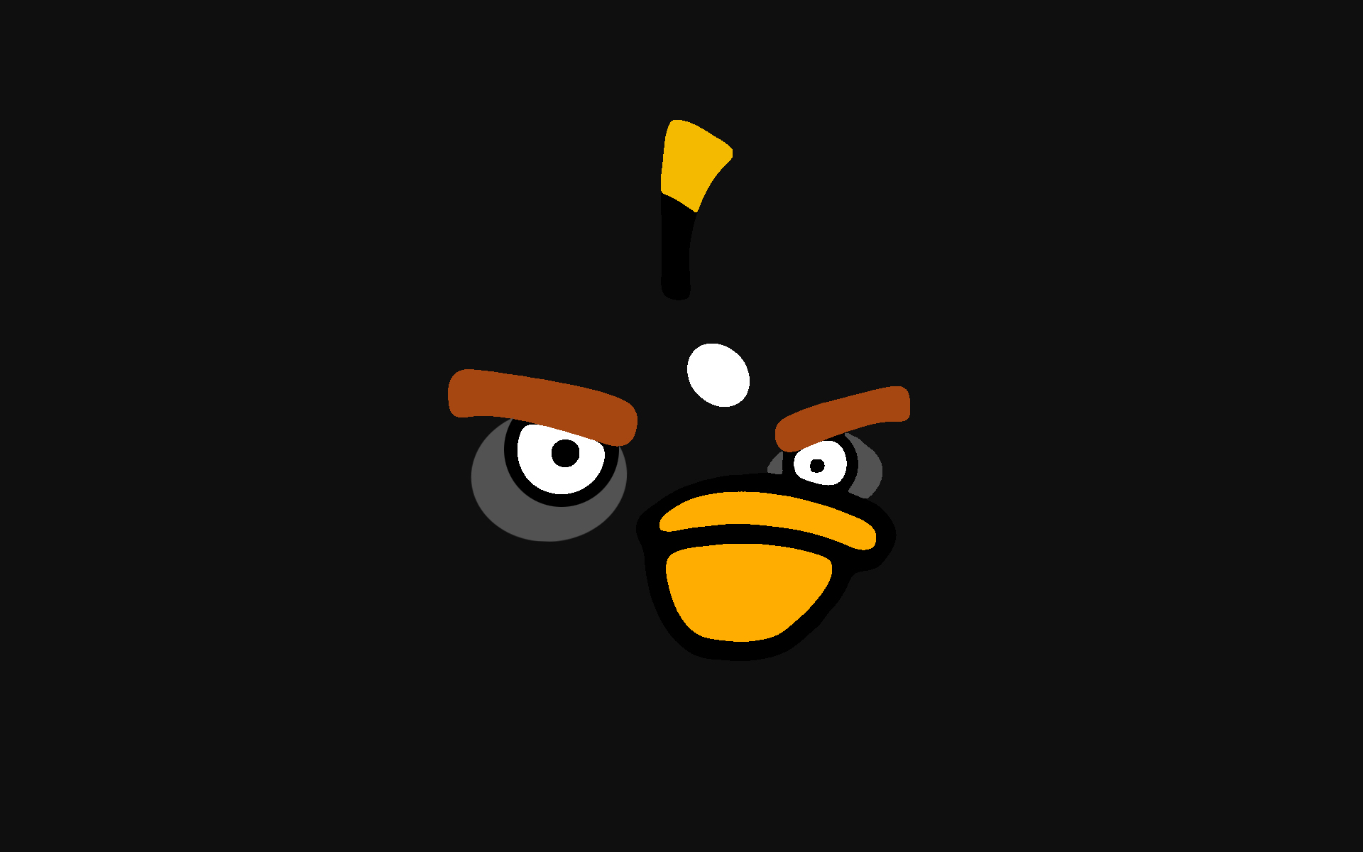 black angry bird wallpaper 30401