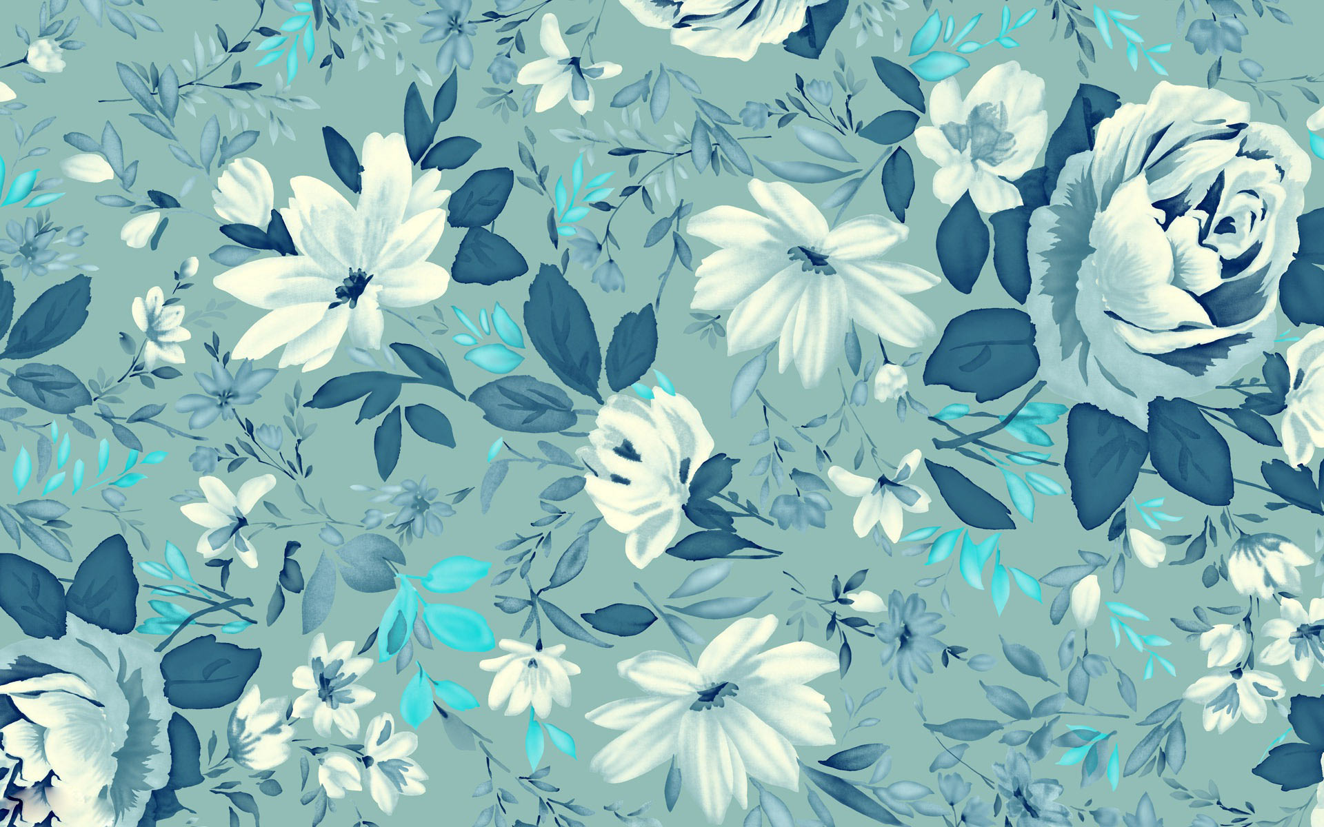 Seamless Space Background Flower Pattern Wallpap...