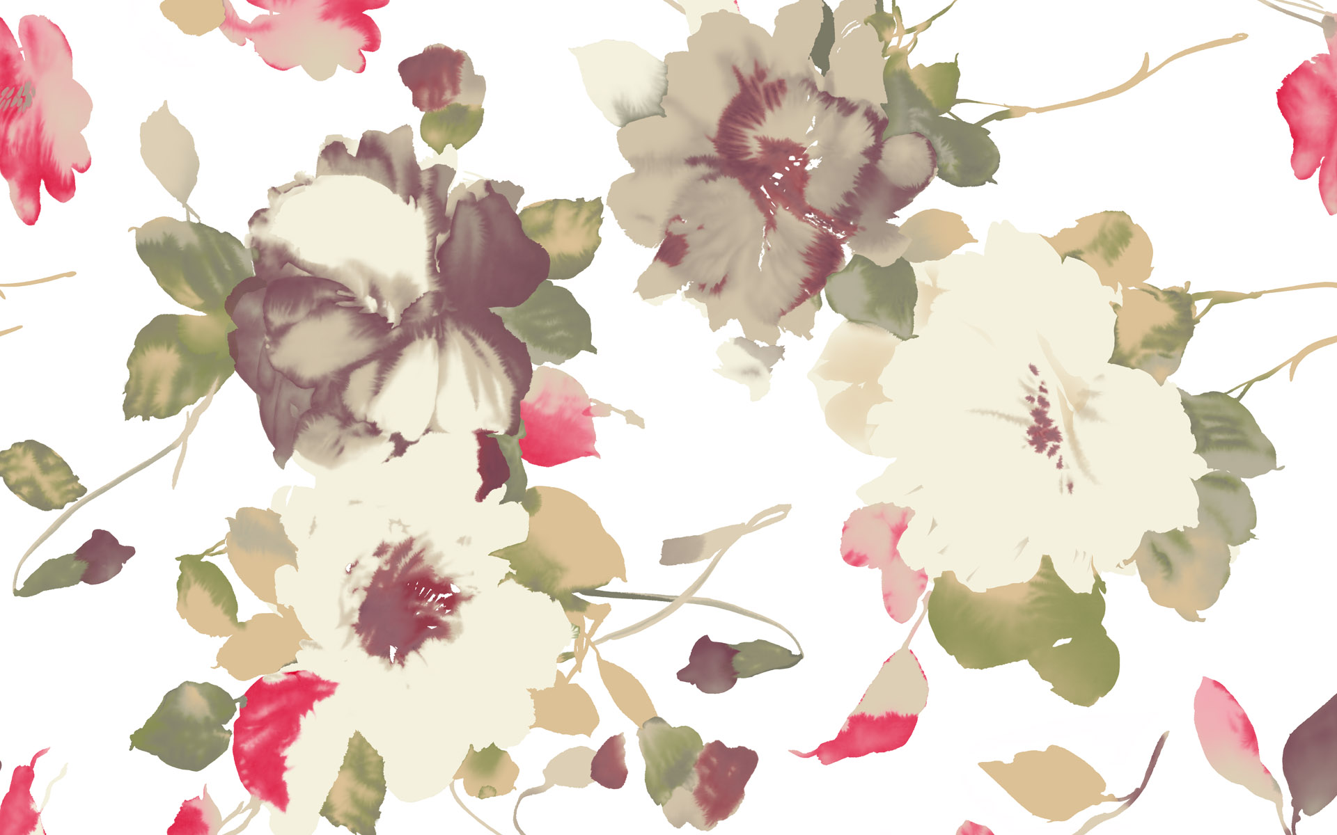 Flower Pattern Wallpaper 18972 1920x1200px