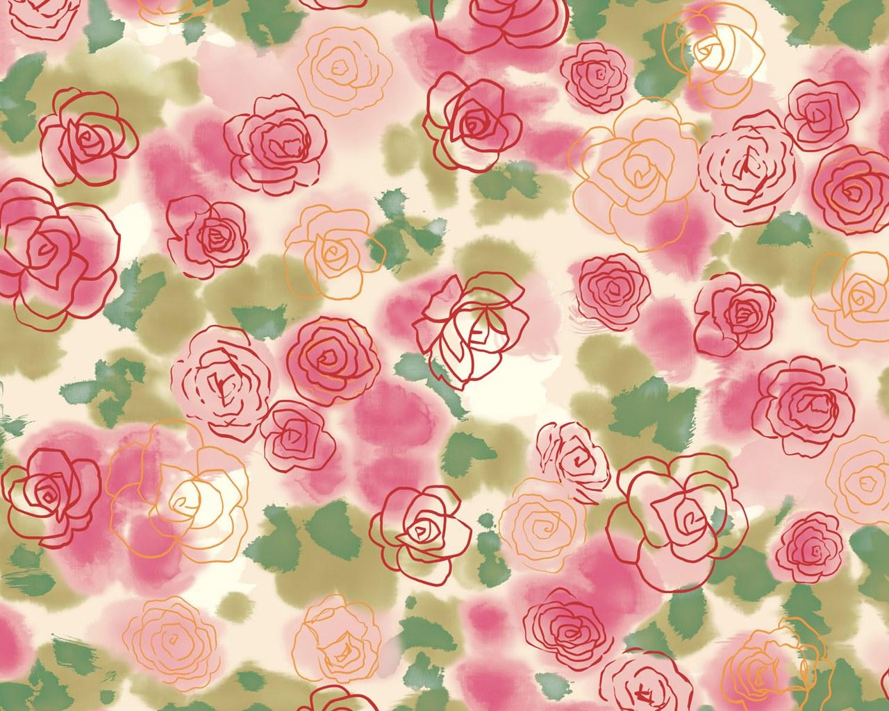 Download Flower Pattern Wallpaper 18975
