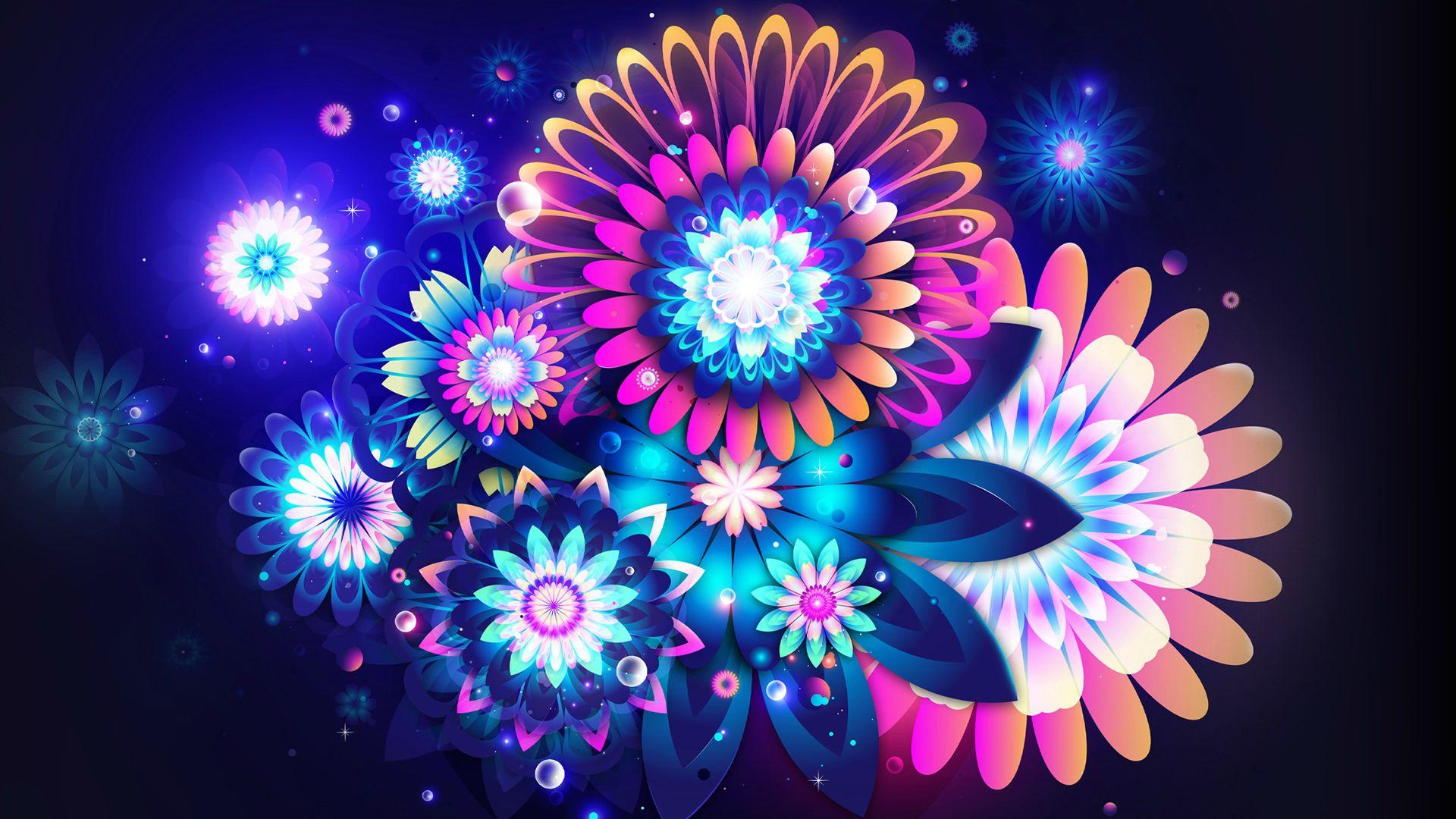 neon flowers 13290