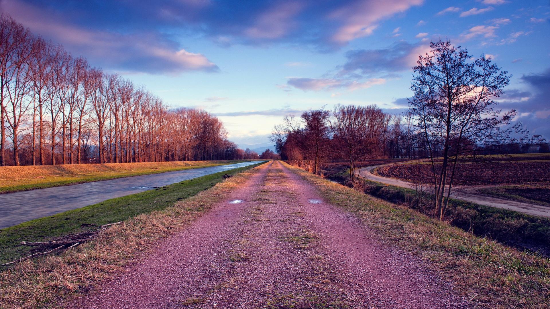pink gravel road wallpaper 43705