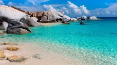 Beach Rocks Background 34595