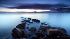 Beach Rocks Wallpaper HD 34578