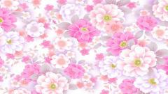 Cute Flower Pattern Wallpaper 18974