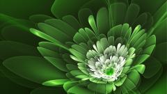 Green Flowers 17338