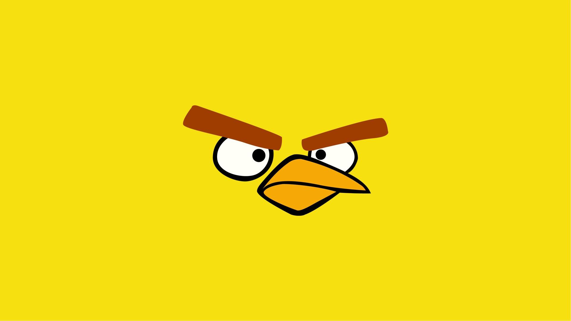 yellow angry bird wallpaper 30396