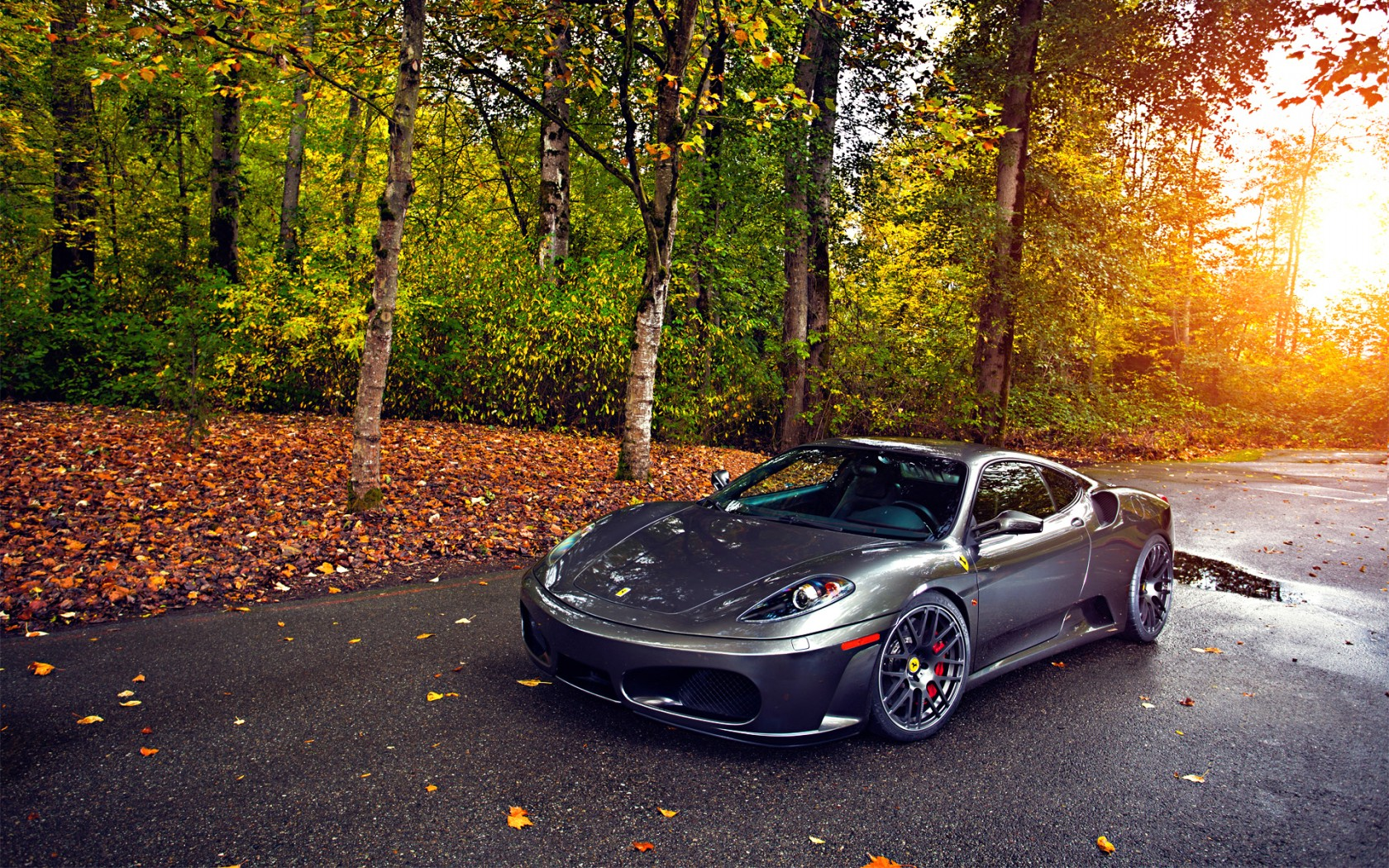 beautiful grey ferrari f430 wallpaper 44239