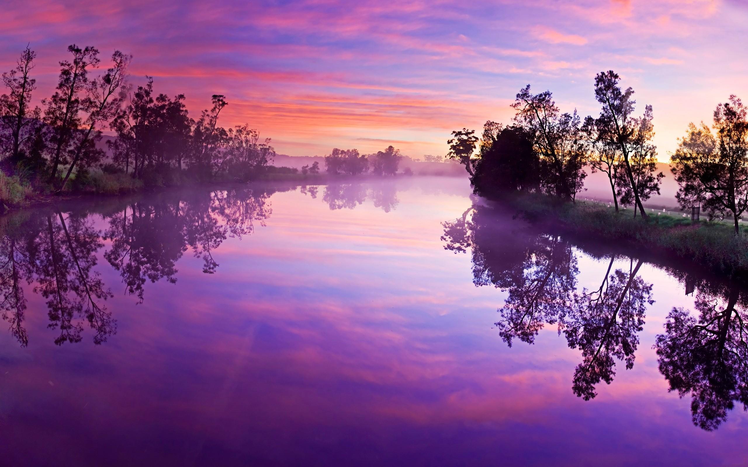 cool purple sunset 23187