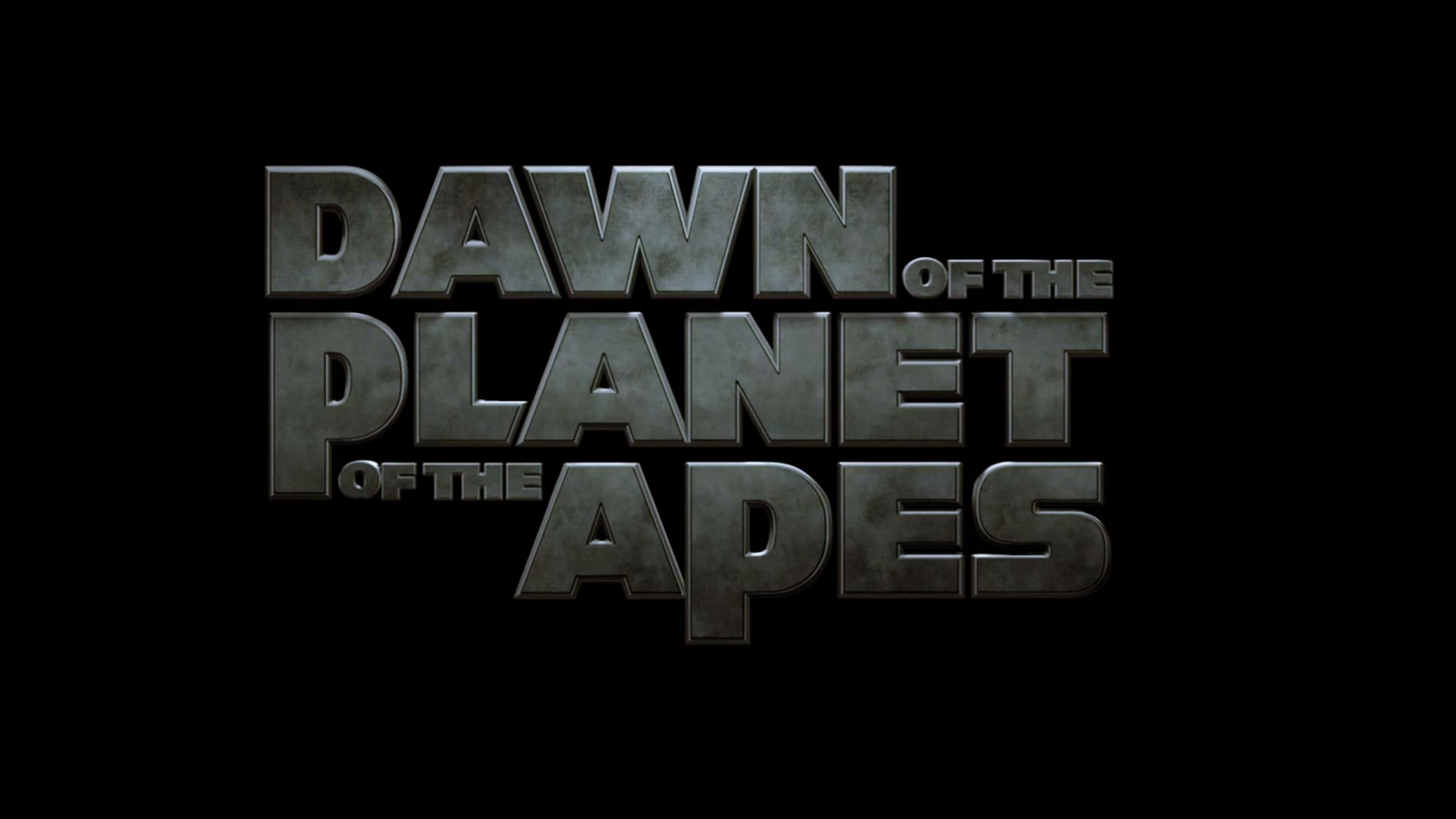dawn of the planet of the apes logo wallpaper 33540