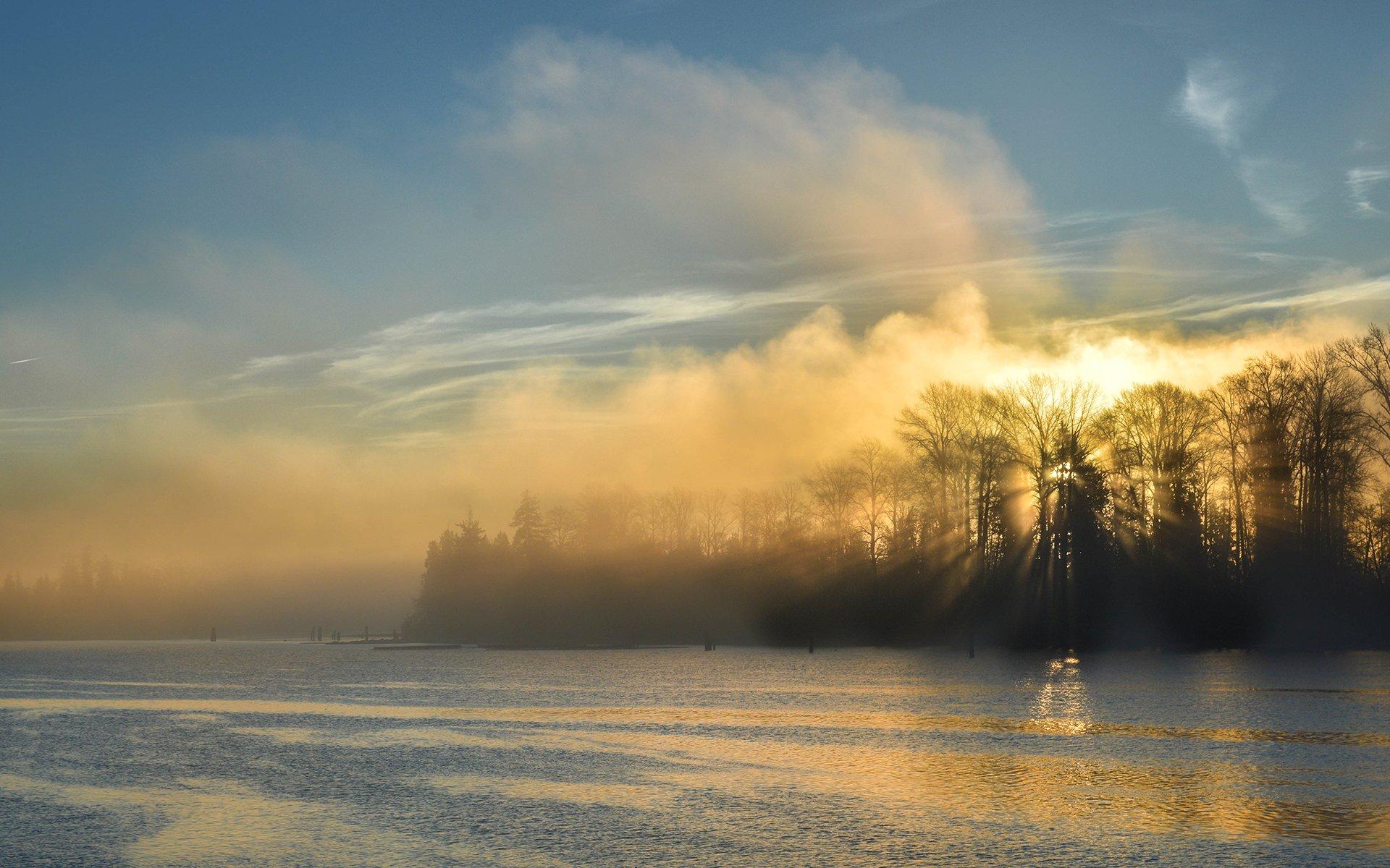 free lake mist wallpaper 33773