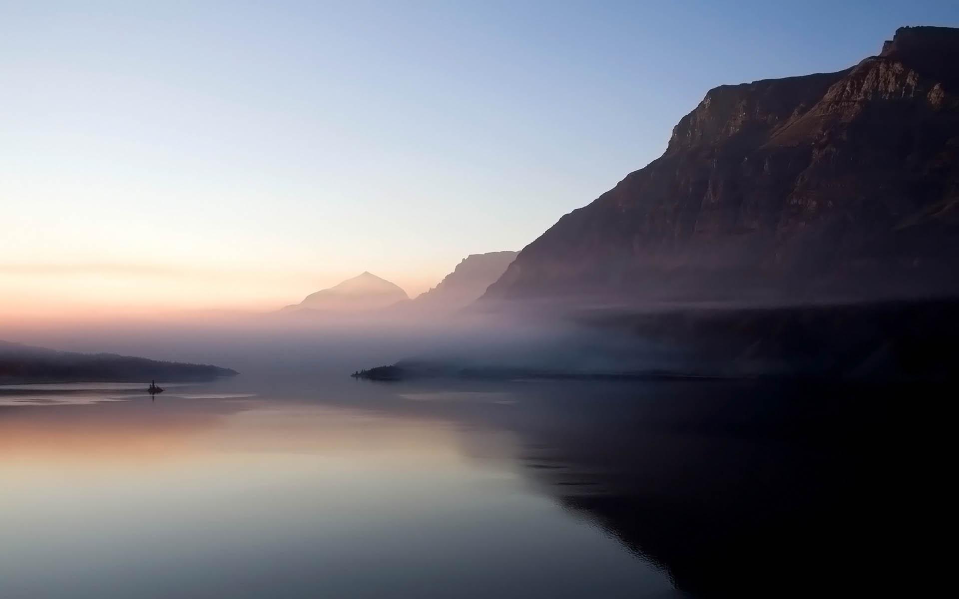lake mist wallpaper 33767