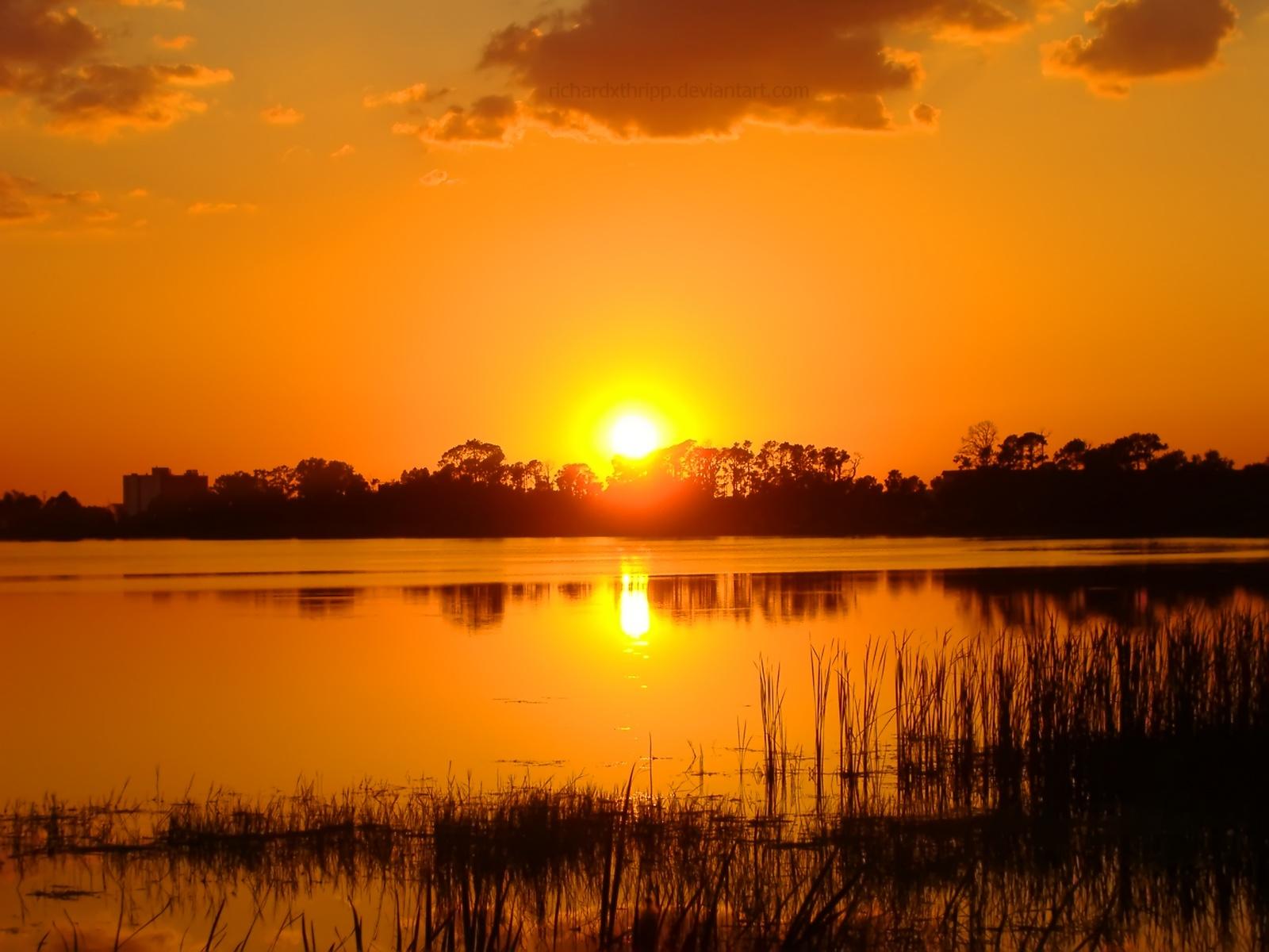 orange sunset 30017