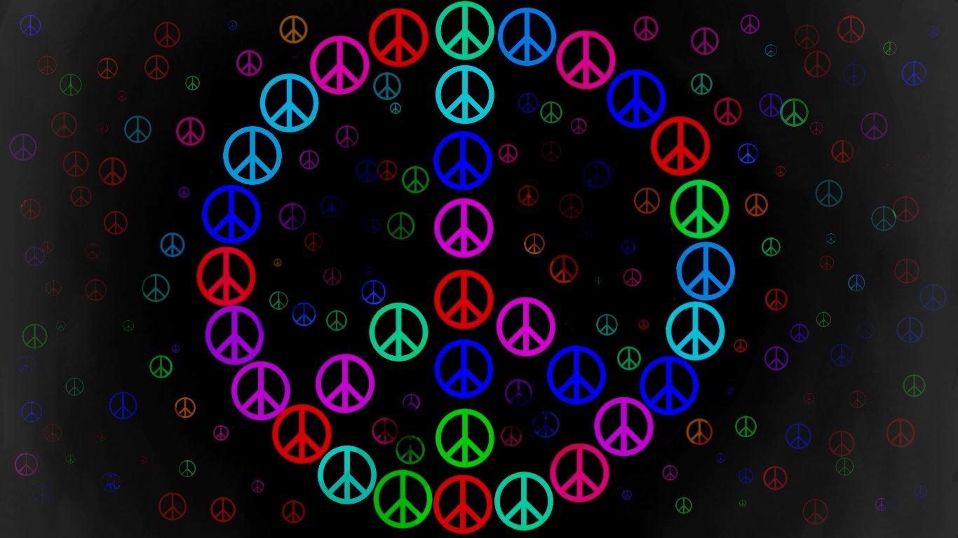 peace sign wallpaper 7931 1366x768 px hdwallsourcecom