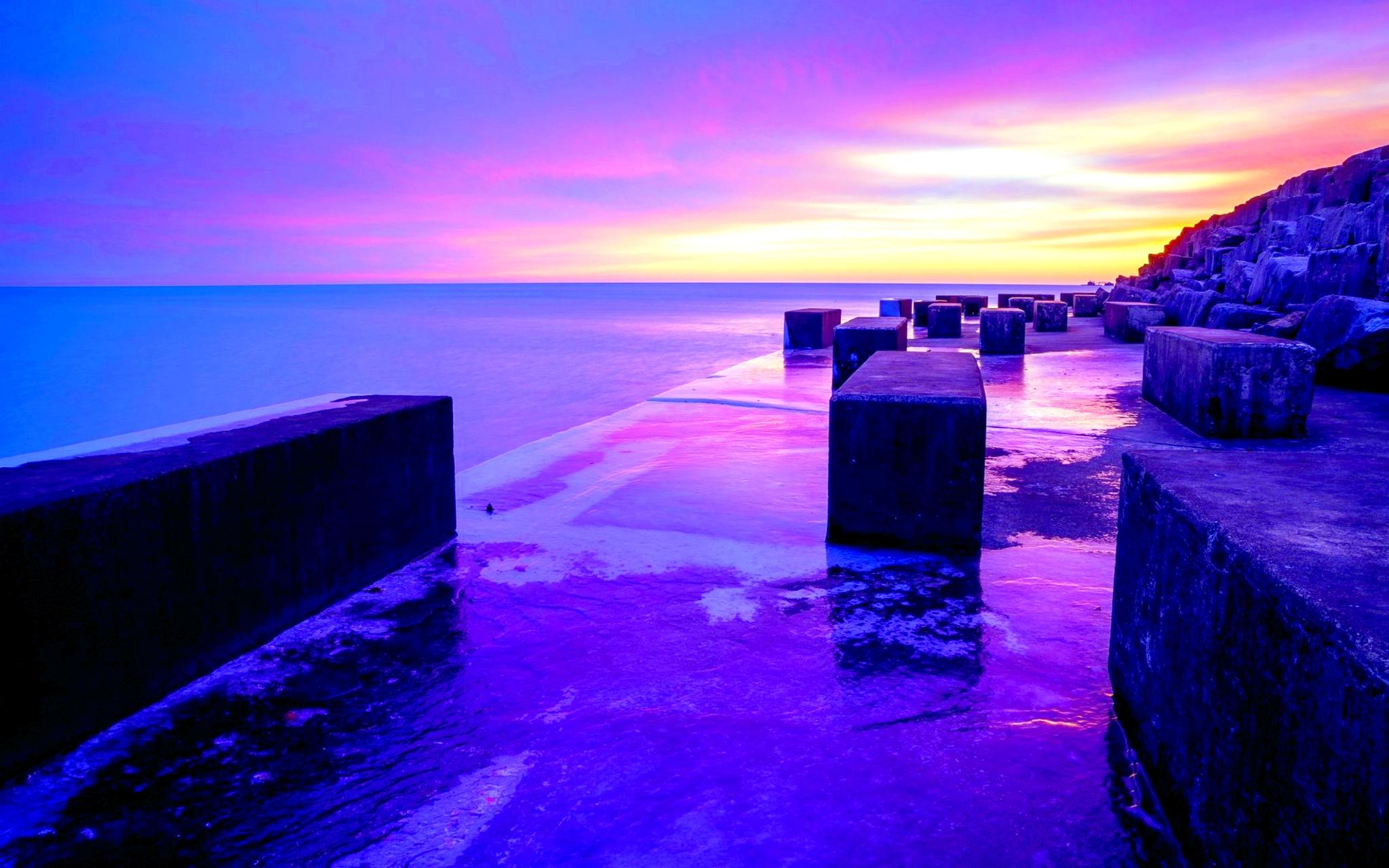 purple sunset wallpaper 23192