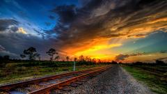 Fantastic Train Track Wallpaper 37973
