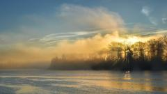 Free Lake Mist Wallpaper 33773