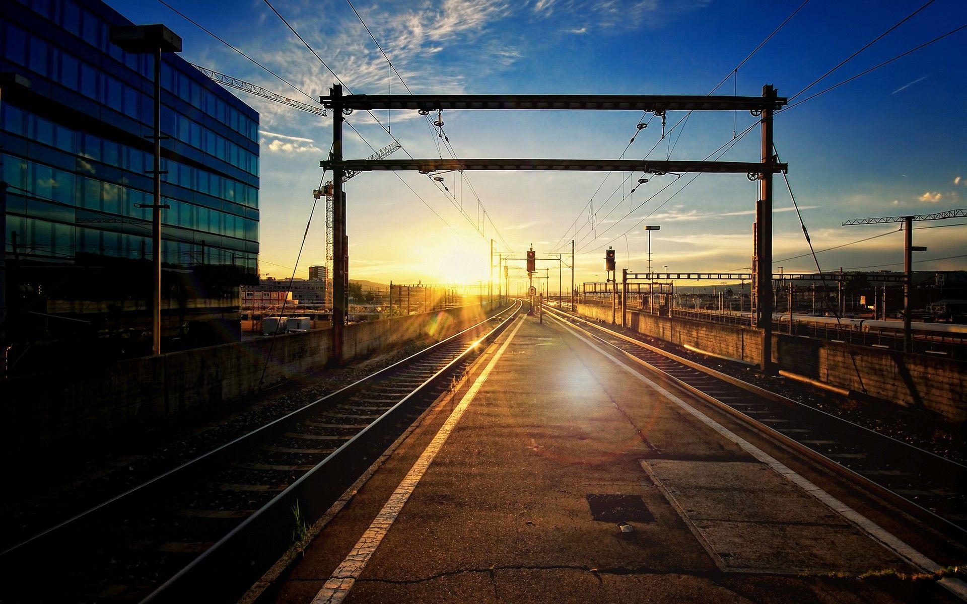 train track wallpaper 37976