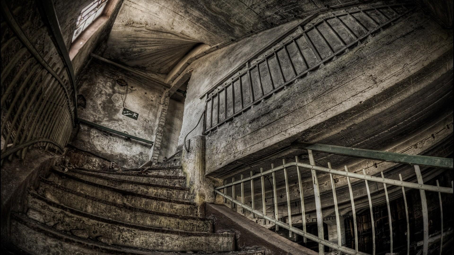 vintage stairs wallpaper 37921