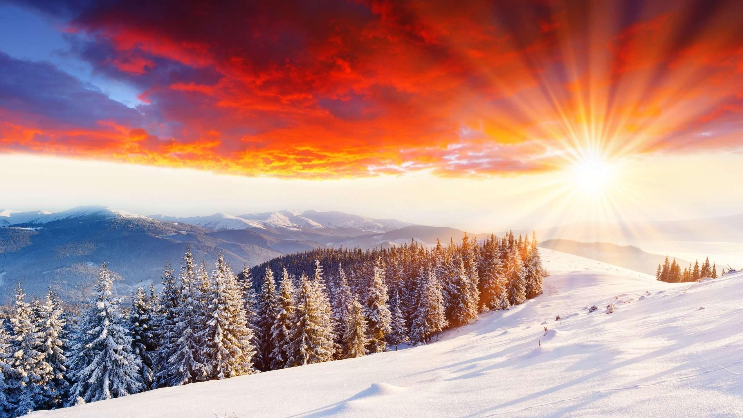 winter scenery sunlight wallpaper 33762