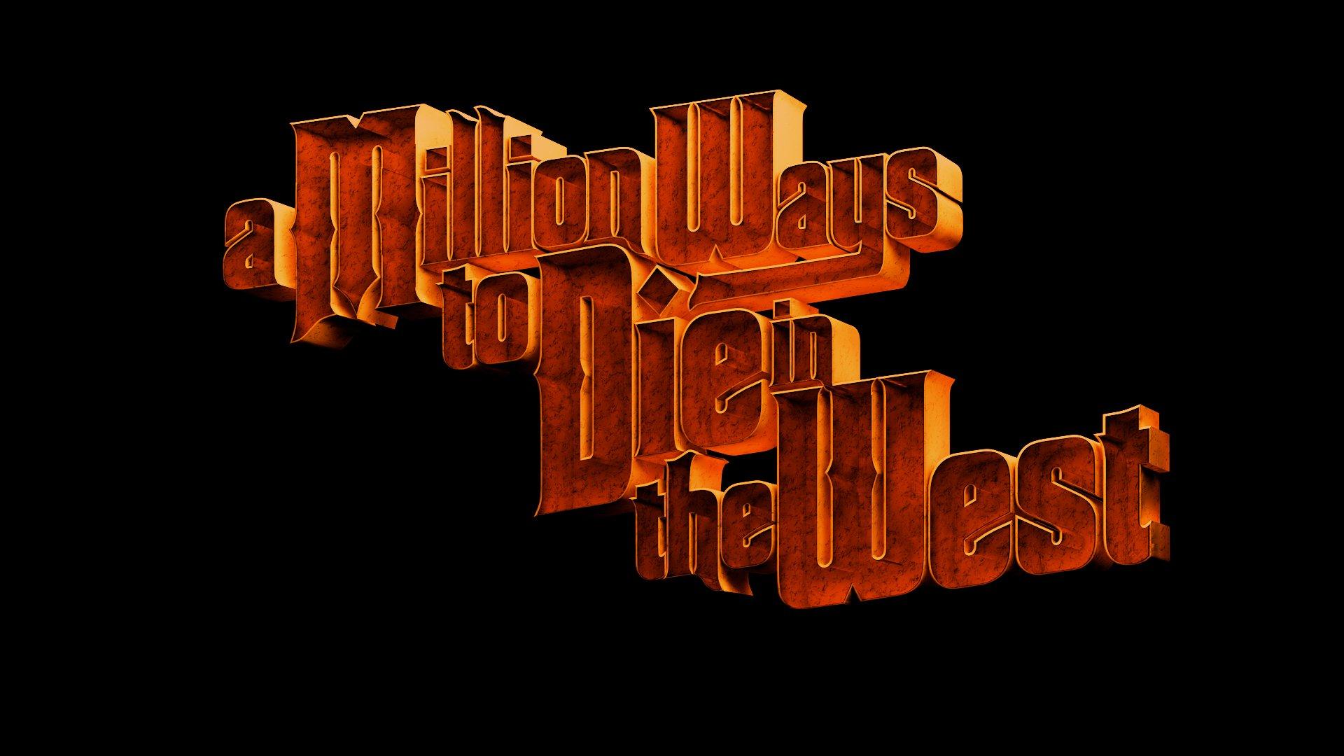 a million ways to die in the west logo wallpaper 40410