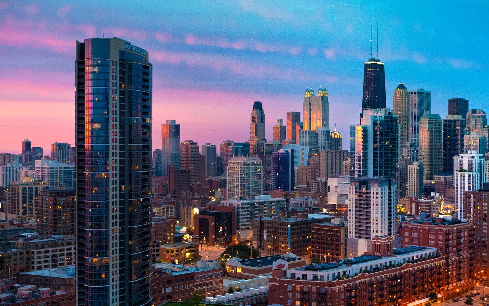 chicago sunset 12352
