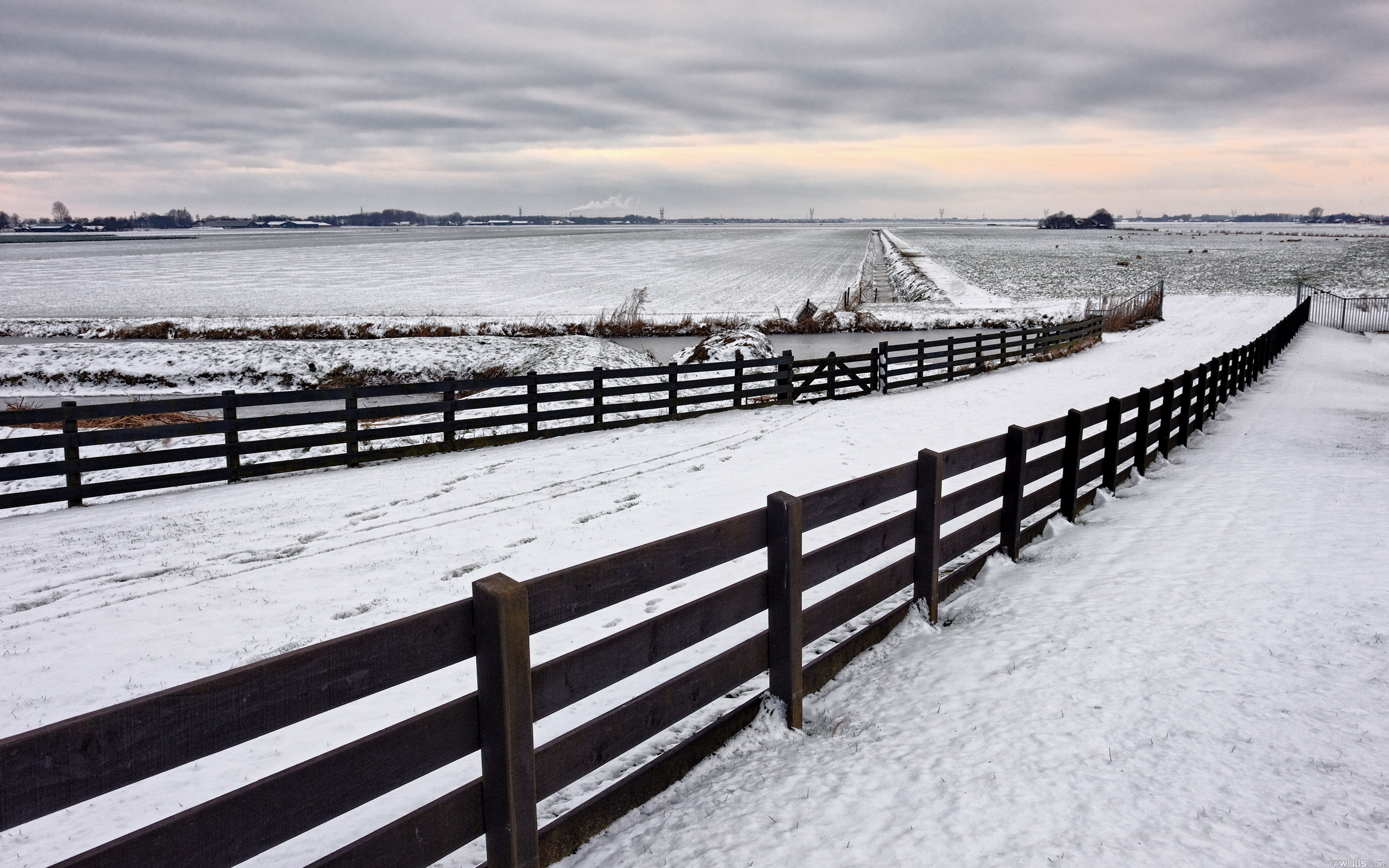 Snow Fence Backgrounds Hd Wallpapers