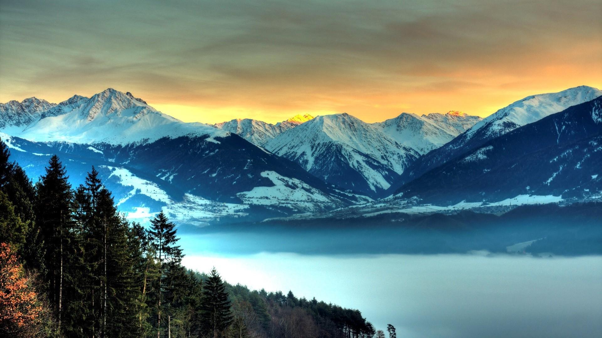 snowy mountains 27142