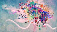 Abstract Hot Air Balloon Wallpaper 19600