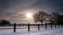 Beautiful Snow Fence Wallpaper 39462
