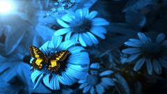 Blue Flowers 14106