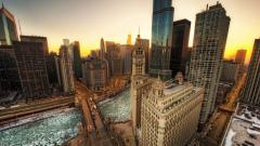 Chicago Sunset 12356