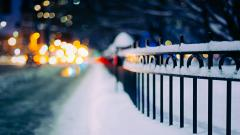 Lovely Snow Fence Wallpaper 39467