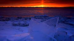 Michigan Winter Sunrise Wallpaper 21273