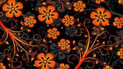 Orange Flowers Texture 19346