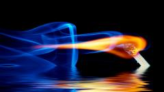Wallpaper Water and Fire 7486