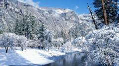 Winter Mountain Stream 33693