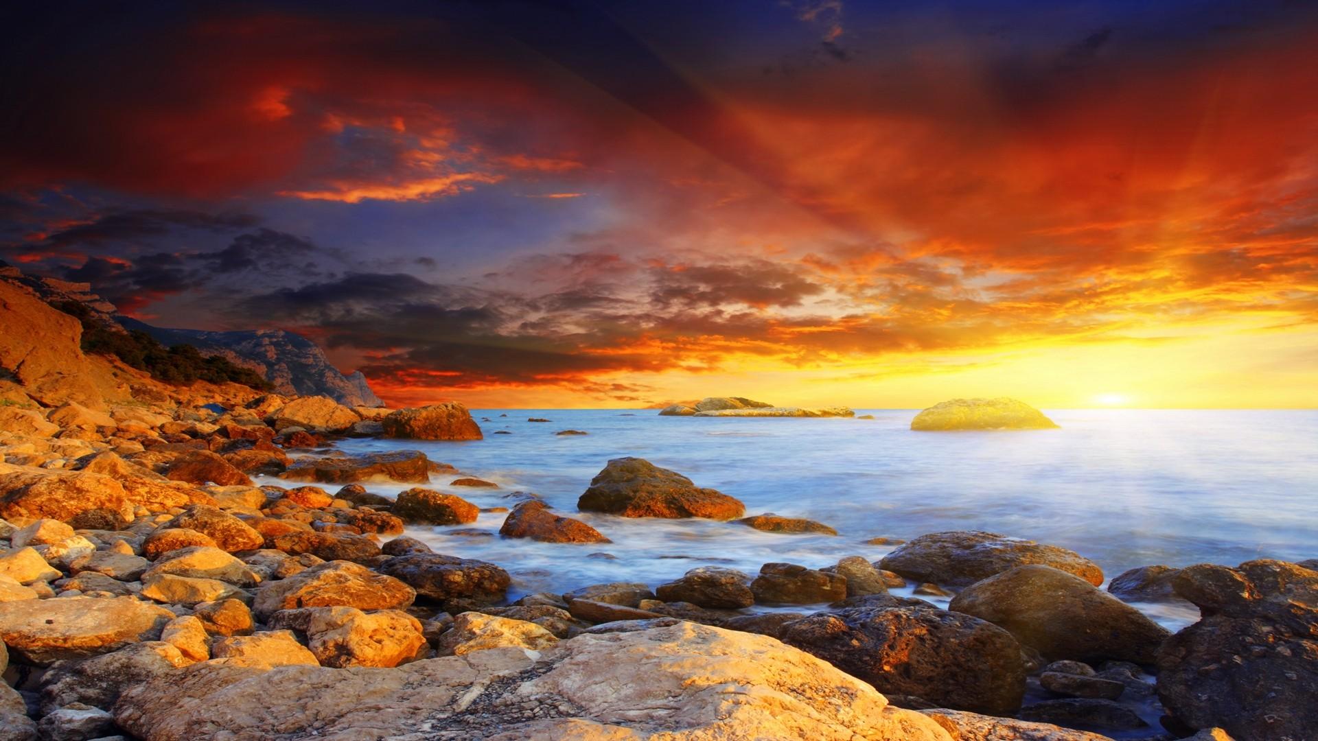 Amazing Sunset Background 28993 1920x1080 Px