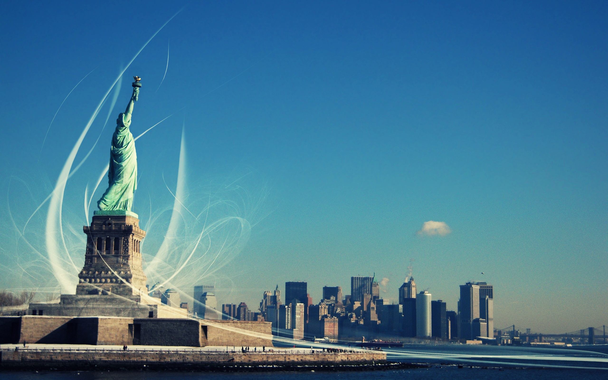 awesome statue of liberty wallpaper 38290