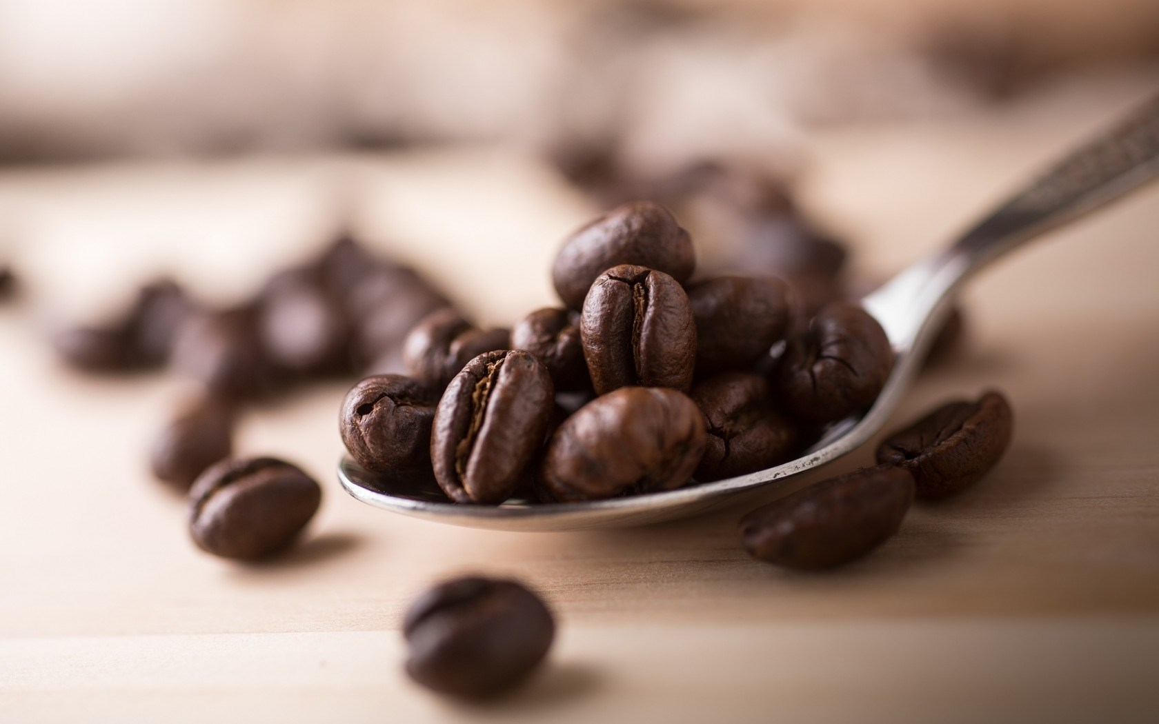 coffee beans on spoon wallpaper hd 42422