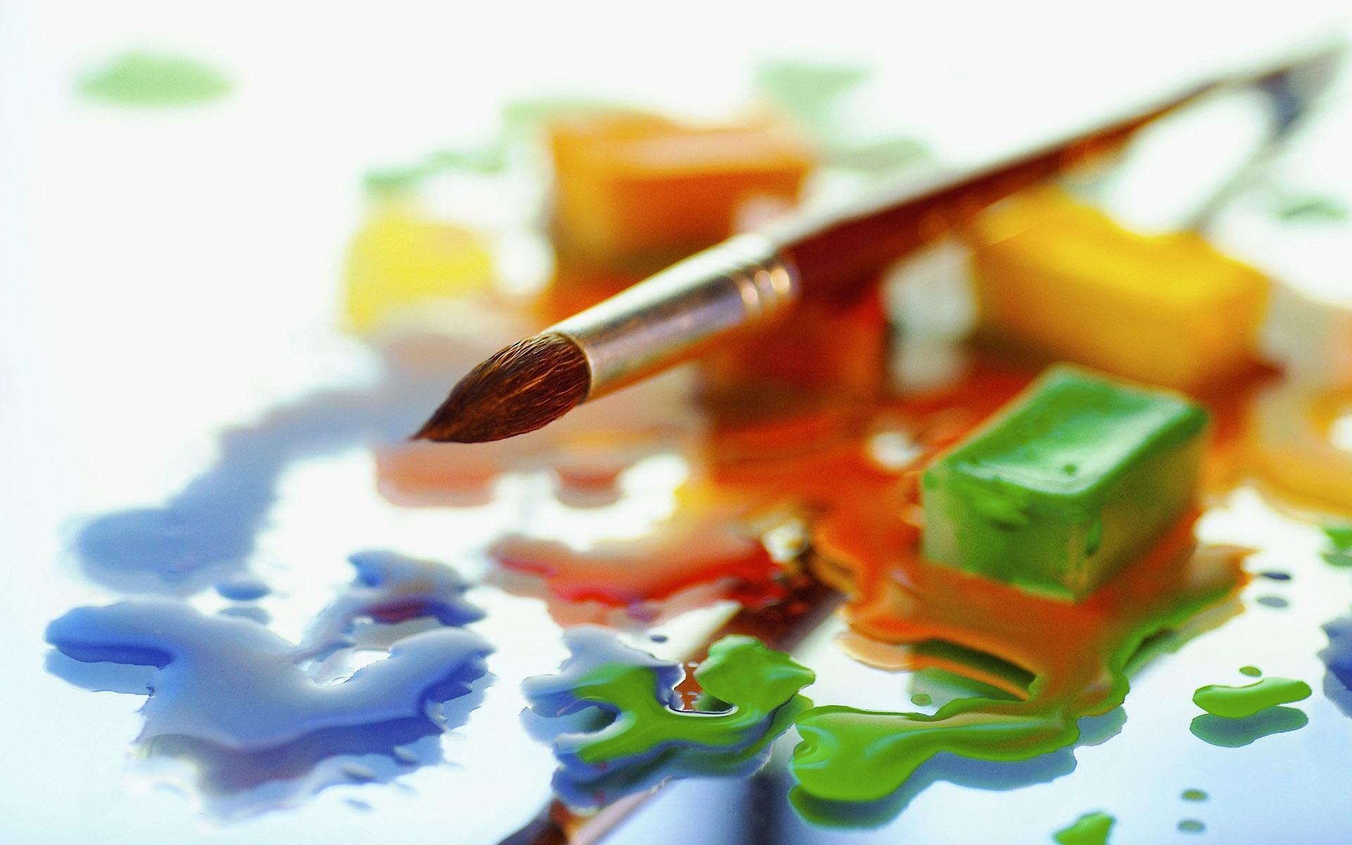cool paint brush wallpaper 40575