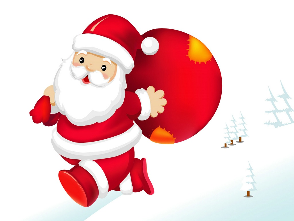 cute santa wallpaper 16175