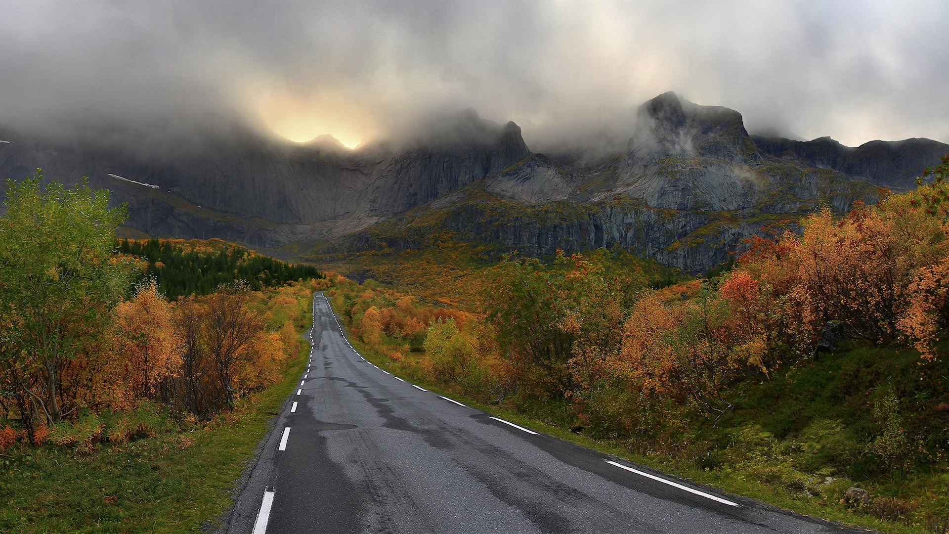 free mountain road wallpaper 37794