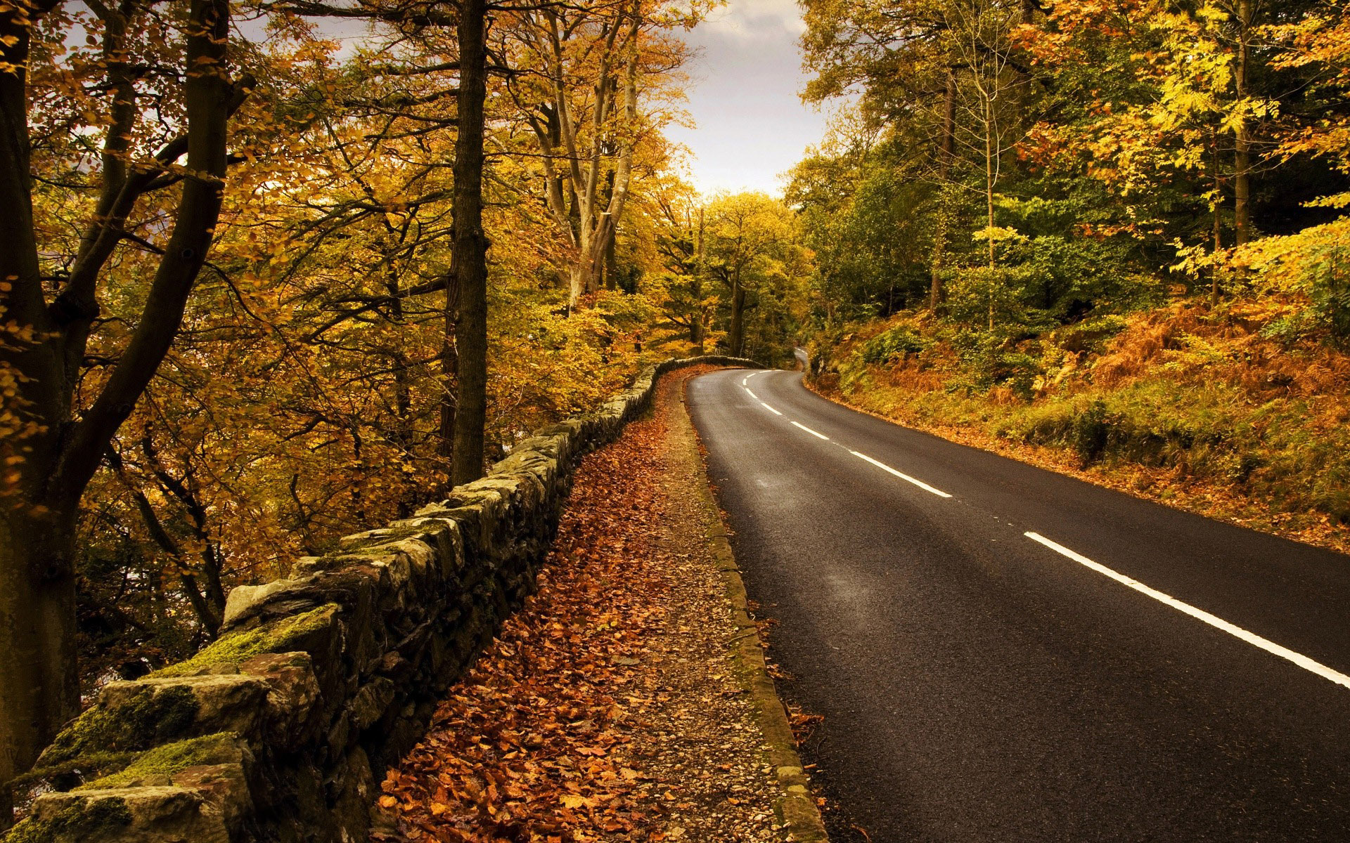 gorgeous mountain road wallpaper 37802