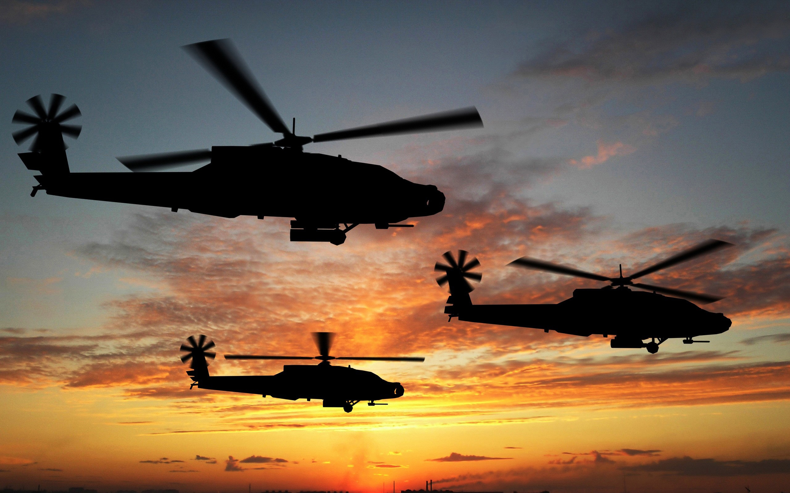 helicopter sunset wallpaper background 8020