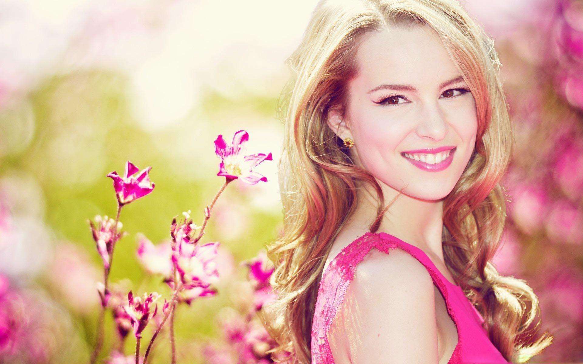pink dress wallpaper 35361