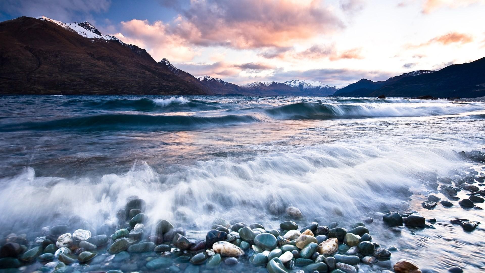 rocky shore wallpaper 33957 1920x1080 px
