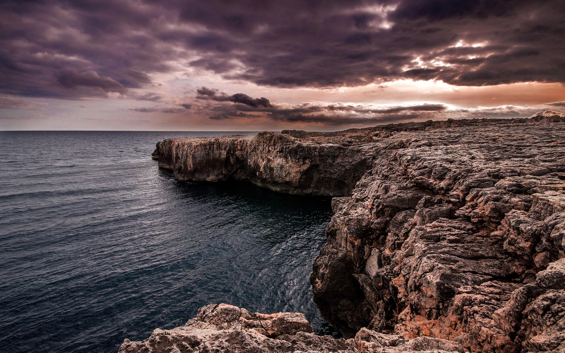 rocky shore wallpaper 33972