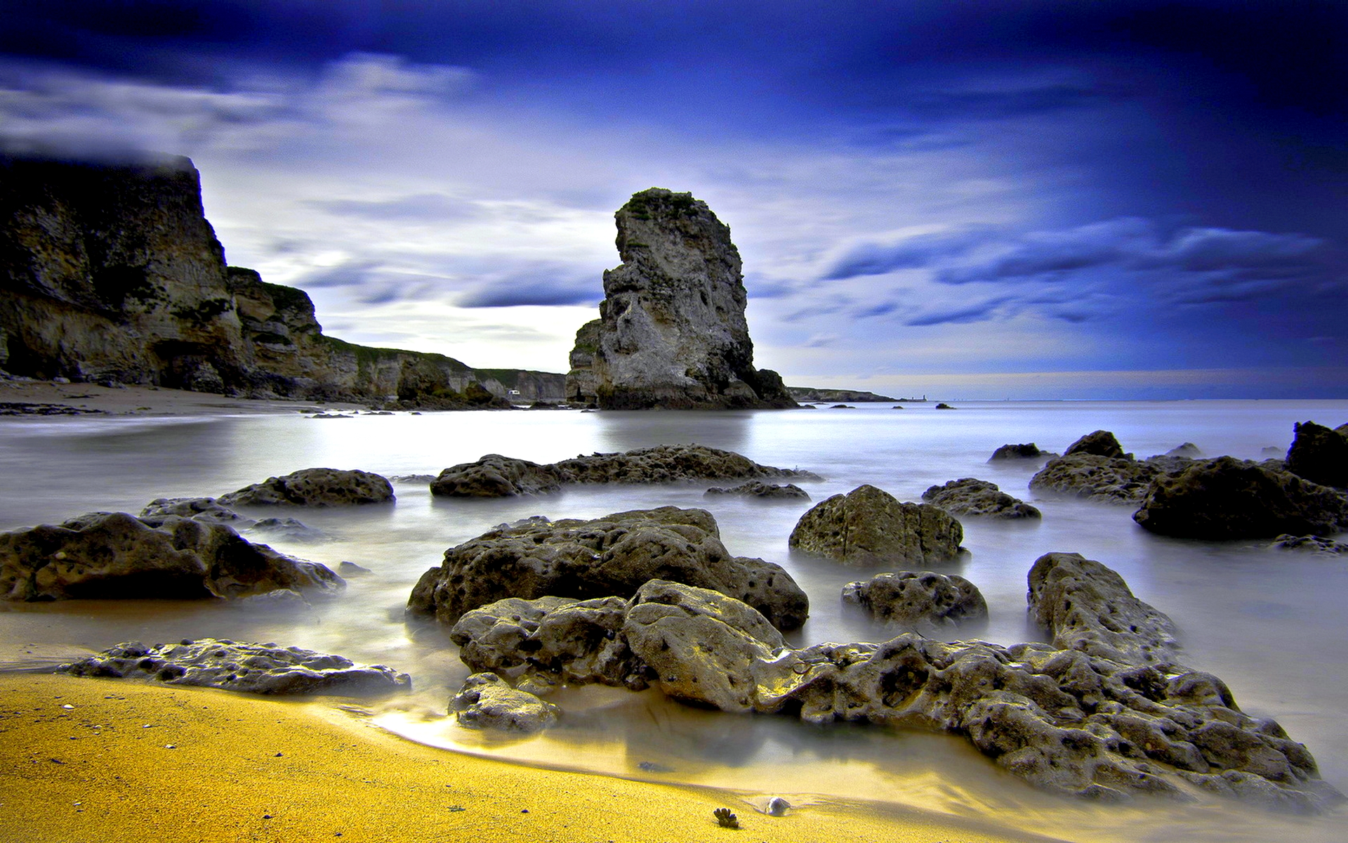 rocky shore wallpaper 33978