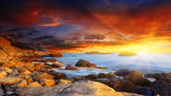 Amazing Sunset Background 28993